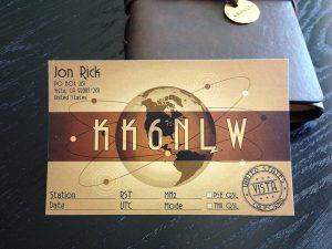 KK6NLW QSL Card